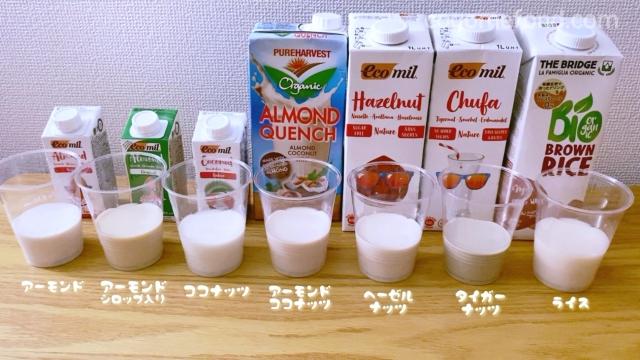 オーガニック植物性ミルク比較