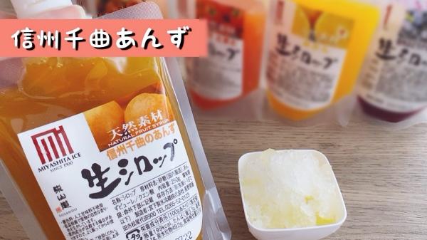 杏生シロップ かき氷